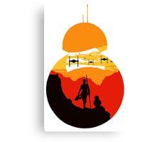 Star Wars VII - BB8 & Rey 2 Canvas Print