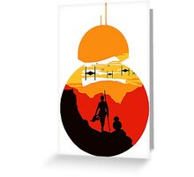 Star Wars VII - BB8 & Rey 2 Greeting Card