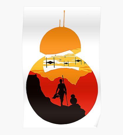 Star Wars VII - BB8 & Rey 2 Poster