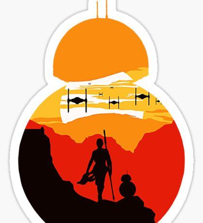 Star Wars VII - BB8 & Rey 2 Sticker
