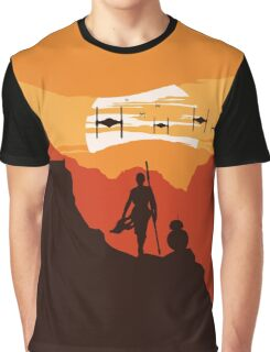 Star Wars VII - BB8 & Rey 2 Graphic T-Shirt