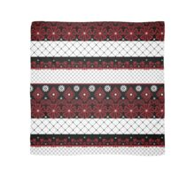 Red and black seamless lace pattern with fishnet on white background Scarf
