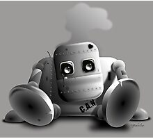 C.A.N the robot - cute tired robot Photographic Print
