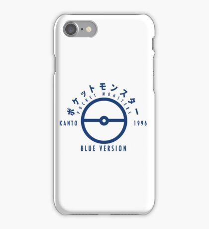 Pokemon Blue Version iPhone Case/Skin