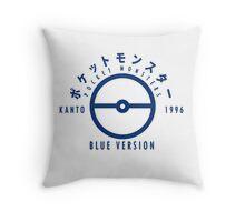 Pokemon Blue Version Throw Pillow