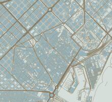 Barcelona Map (Winter) Sticker