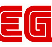 Red Sega Logo Sticker