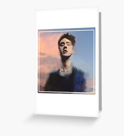 Troye Sivan digital painting Greeting Card