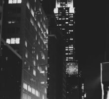 Chrysler Building at Night - New York City Sticker