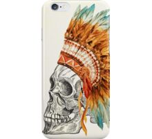 Apache Skullhead indians tribal feather Graphic T-shirt iPhone Case/Skin