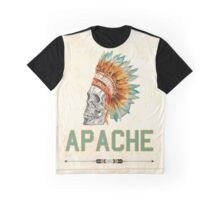 Apache Skullhead indians tribal feather Graphic T-shirt Graphic T-Shirt