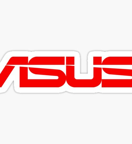 Red Asus Logo Sticker