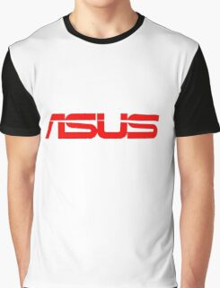 Red Asus Logo Graphic T-Shirt