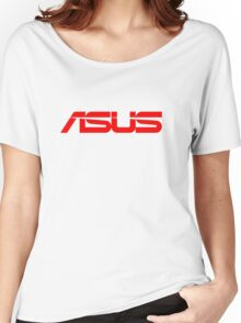 Red Asus Logo Women's Relaxed Fit T-Shirt