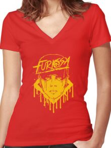 Mad-Furiosa Women's Fitted V-Neck T-Shirt