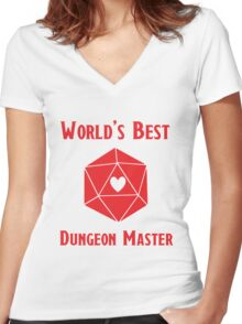 World's Best Dungeon Master Women's Fitted V-Neck T-Shirt