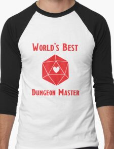 World's Best Dungeon Master Men's Baseball ¾ T-Shirt