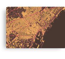 Barcelona Map (Summer) Canvas Print