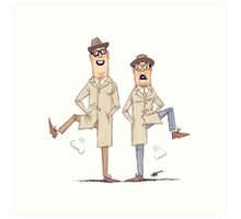 #04 A Reeves and Mortimer Sketch Art Print