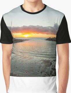 Portpatrick A Winter Sunset Graphic T-Shirt