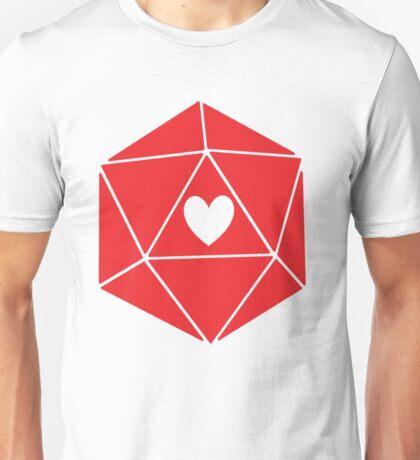D20 Heart Unisex T-Shirt