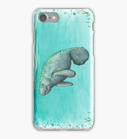 Mossy Manatee ~ Watercolor iPhone Case/Skin
