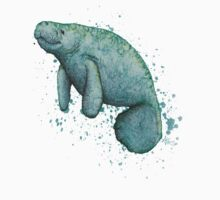 Mossy Manatee ~ Watercolor One Piece - Short Sleeve