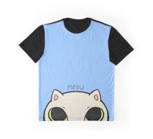 Meow - Blue Graphic T-Shirt