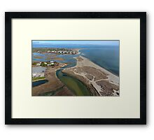 Ridgevale Beach by Drone  Framed Print