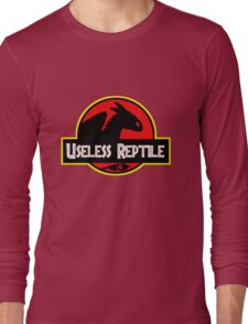 "Jurasic Park Funny ''Useless Reptile"" Long Sleeve T-Shirt"