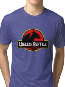 "Jurasic Park Funny ''Useless Reptile"" Tri-blend T-Shirt"