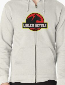 "Jurasic Park Funny ''Useless Reptile"" Zipped Hoodie"