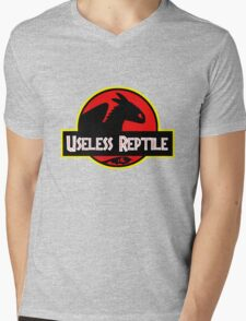 "Jurasic Park Funny ''Useless Reptile"" Mens V-Neck T-Shirt"