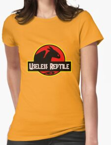 "Jurasic Park Funny ''Useless Reptile"" Womens Fitted T-Shirt"