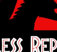 """Jurasic Park Funny ''Useless Reptile"""" Sticker"""