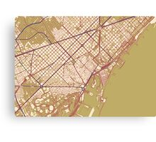 Barcelona Map (Autumn) Canvas Print