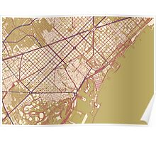 Barcelona Map (Autumn) Poster
