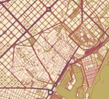 Barcelona Map (Autumn) Sticker