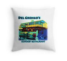 Del Grengo's Seafood Restaurant Dr. Steve Brule Design by SmashBam Throw Pillow