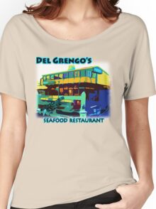 Del Grengo's Seafood Restaurant Dr. Steve Brule Design by SmashBam Women's Relaxed Fit T-Shirt