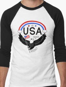 FOURTH OF JULY EAGLE Men's Baseball ¾ T-Shirt