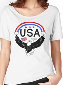 FOURTH OF JULY EAGLE Women's Relaxed Fit T-Shirt
