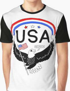 FOURTH OF JULY EAGLE Graphic T-Shirt