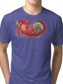 Cute Little Girl Tri-blend T-Shirt