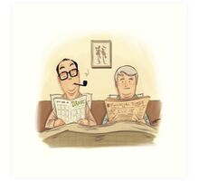 #09 A Morecambe and Wise Sketch Art Print