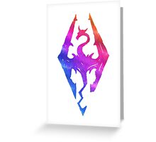 Skyrim Aroura Greeting Card