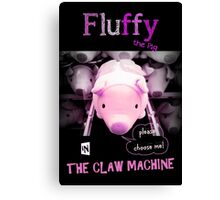 Fluffy the pig Canvas Print