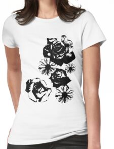 Roses and a Daisy Womens Fitted T-Shirt