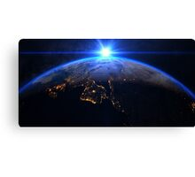 Planet Earth with a spectacular sunrise Canvas Print
