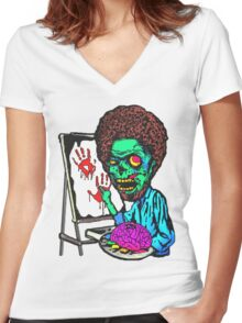 The Joy Of Brains Women's Fitted V-Neck T-Shirt